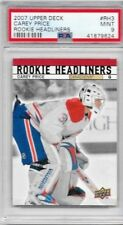 07-08 UPPER DECK ROOKIE HEADLINERS CAREY PRICE RC CANADIENS PSA 9