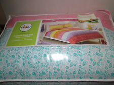Circo BASIC Collection 7 Piece Full Bed Set ~ Pink, Purple, Yellow Stripe/Flower