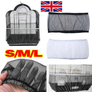 Nylon Pet Bird Cage Cover Seed Catcher Shell Skirt Guard Mesh Net Mesh Tidy UK