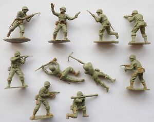 LOT x 10 AIRFIX 1:32 SCALE US MARINES ARMY WWII PLASTIC TOY SOLDIERS U.S.