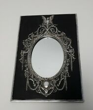 Lovely Vintage Silver Metal and Stone Mirror 1930-40s