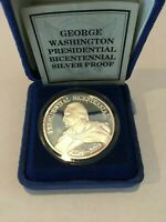 GEORGE WASHINGTON BICENTENNIAL PROOF 1 Oz  .999 FINE SILVER COIN