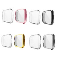 2x Clear Slim Case Smart Watch Screen Protector Full Cover for Fitbit Versa