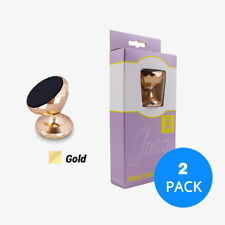 2 Pack Gold 360° Rotating Car Magnetic Dash Mount Holder For Phone GPS Mobile