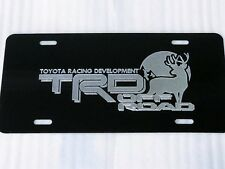 Toyota TRD Off Road BUCK Car Tag Diamond Etched on Black Aluminum License Plate
