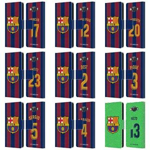 FC BARCELONA 2020/21 PLAYERS HOME KIT GROUP 2 LEATHER BOOK CASE FOR SAMSUNG 2