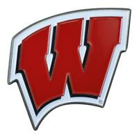 University of Wisconsin Badgers Car Emblem Color Metal Car Logo Decal