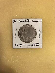Mexico- 1914 Peso Zapatista Guerrero