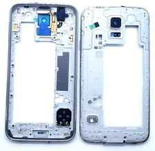 Samsung Galaxy S5 G900 i9600 G900V Bezel Camera Lens Rear Cover Middle Frame Oem