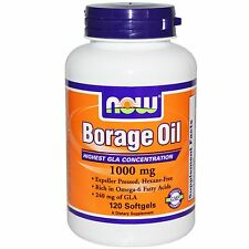 Now Foods - Borage Oil, 1000 mg, 120 Softgels