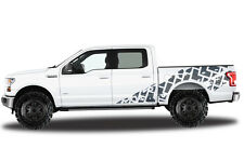 Vinyl Decal Wrap Kit TIRE TRACKS for Ford F-150 2015-2017 GRAY SuperCrew 5.5 Bed