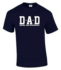 Dad Drunk & Disorderly Fathers Day Birthday Funny Rude Men's T-Shirt T0086