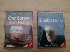 Ellis Peters Bruder Cadfael gelesen von Derek Jacobi Audio Kassette Tape Bücher x 2