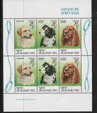 1982 Health Dogs Mini Sheet  Complete MUH/MNH as Issued