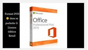 Microsoft® Office 2016 Pro Plus Format DVD + licence RETAIL 1 PC