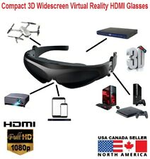 Compact 3D 16:9 Ratio Widescreen FPV Video 1080P HDMI Glasses for Android Iphone