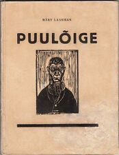 """Märt LAARMAN """"PUULÕIGE"""" WOODCUT Illustrated ART INSTRUCTION Book ESTONIA 1927"""