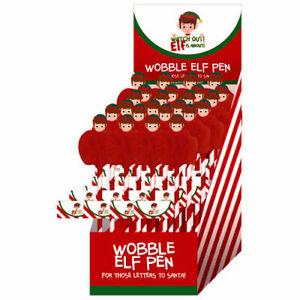 Elf Novelty Pen - Christmas Gift Idea Fluffy Cute Xmas School Santa Secret Pens