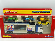 Majorette Formula 1 Transporter Tractor Truck Race Car Trailer Set Lot Mustang