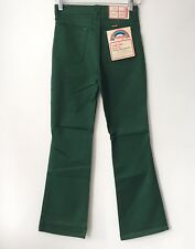 vintage wrangler boy's slim green boot flare western jeans size 16 slim NWT