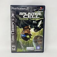 Tom Clancy's Splinter Cell Chaos Theory (PlayStation 2, 2005) PS2 - No Manual