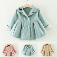 Newborn Baby Girls Cute Outwear Trench Coat Jacket Parka Overcoat Dress Clothes