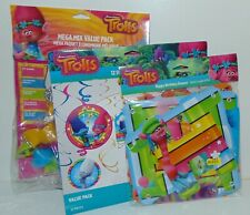 New Trolls Party Supplies 12 Swirl Decorations, Mega Mix Pack, Birthday Banner