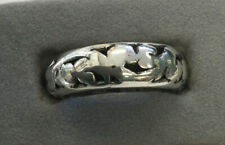 Lois Hill 925 sterling Silver Cutwork Band Ring, Indonesia, size 7, 3.4 Grams