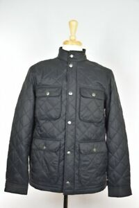 Neil Barrett Men's Nylon Quilted Black Light Puffer jacket Size M NEW $1650 BLMC