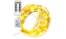 Lee Display Fairy Lights String Lights Plug-In Electric 8 Function 60L LED 20FT