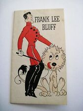 """Vintage """"The Big Top"""" Tally Card w/ """"Frank Lee Bluff"""" Lion Trainer *"""