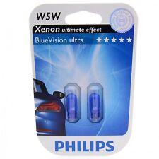 W5W Philips BlueVision ultra bis zu 4500K Xenon Effekt 12961BV Blister DUO 2 St.