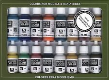 Medieval Colors: 16 Paint Set for Models, Hobby (Vallejo 70142)