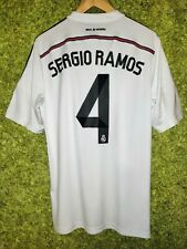 Real Madrid 2014 2015 Home Football #4 Sergio Ramos Jersey Shirt Soccer Size L