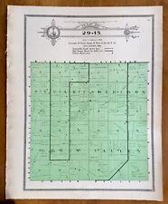 New Listing1915 Plat Map Twnsp 29-15 Stuart, Sheridan, Green Valley Holt County, Nebraska