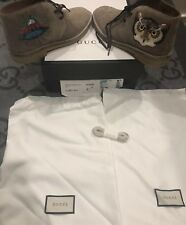 6b8e6a408 NEW IN BOX 100% AUTHENTIC GUCCI OWL SUEDE BEAR ARDESIA SNEAKERS SHOE G 7 US