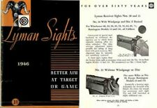Lyman 1946 Gun Sights Catalog #31