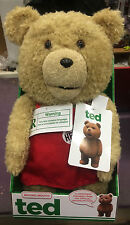 TED 16-inch r-rated Talking Plush Teddy Bear in ROSSO Grembiule BRAND NEW IN STOCK