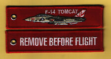 F-14 Tomcat Remove Before Flight embroidered Aviation key ring/fob/luggage tag