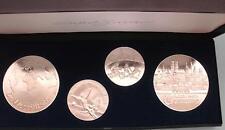 4 Medallien zur WM 1974 aus 999,9 Silber , Gesammtgewicht  ca.130 gramm