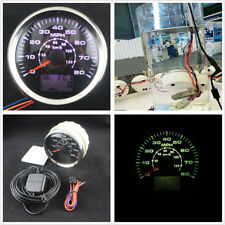 8-Color Backlight 85mm Autos Digital GPS Speedometer 0-80MPH LCD Speed Odometer