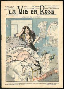 LA VIE EN ROSE 34 1902 Illustrated HUMOR Paris Morals PROSTITUTION VASTA Archive