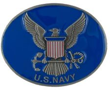 Enamel Belt Buckle - Brand New! U.S. Navy Crest - 3D Colored