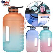 Water Bottle Jug Big Sport Plastic Large Capacity Leakproof for Gym Fitness 3.7L