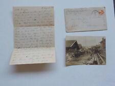 WWII Letter 1945 Photo 90th Division Dorr Michigan Photograph WW II VTG Old WW2