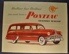 1950 Pontiac Station Wagon Brochure Folder Silver Streak Excellent Original 50
