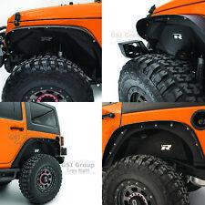 Rock Crawler Black Front+Rear Inner Fender Liner for 07-18 Jeep Wrangler JK