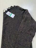Michael Kors Women's Top Black Gold Metallic Sweater Size Large NWT $99.50