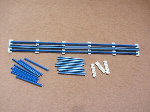 Rarität 8 x gebogene Stromschiene blau LEGO® 12 V Eisenbahn Schienen