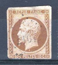 """FRANCE  N° 9 a """" LOUIS-NAPOLEON 10c  BISTRE-BRUN 1852 """" OBLITERE A VOIR P624"""